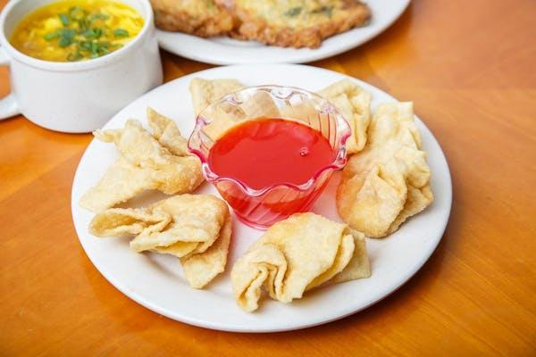 5. Crabmeat Cheese Wontons