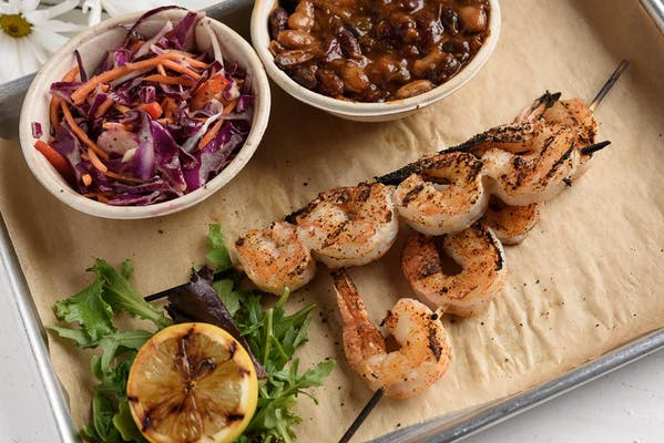 Two Jumbo Shrimp Skewers
