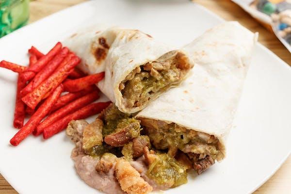 Chicharrón & Bean Burrito