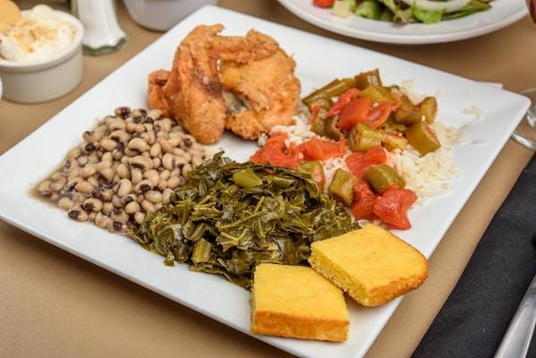 (1) Meat & (3) Vegetable Plate