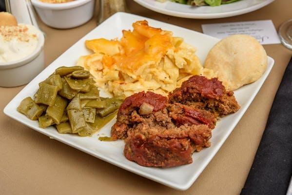(1) Meat & (2) Vegetable Plate