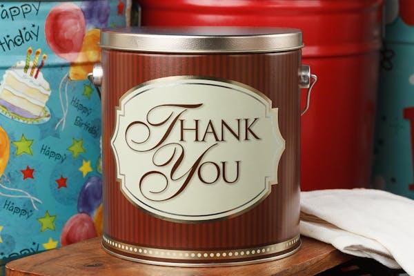 "Classic ""Thank You"" Popcorn Tin"