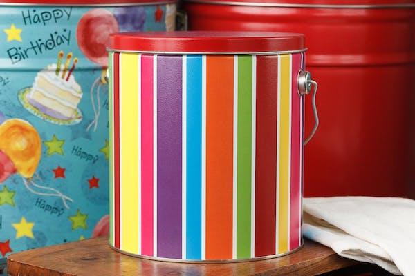 Everyday Stripe Popcorn Tin