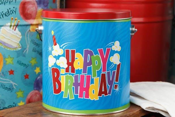 """Happy Birthday"" Popcorn Tin"