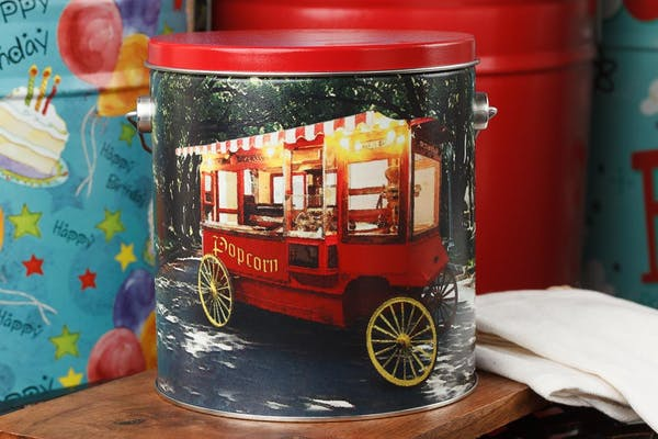Old Tyme Popcorn Tin