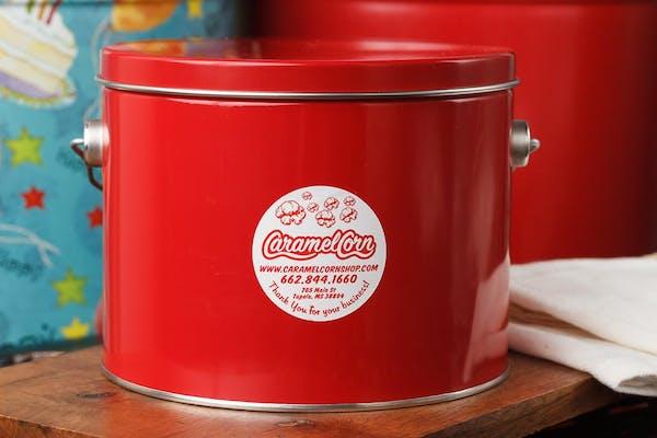 Red Popcorn Tin