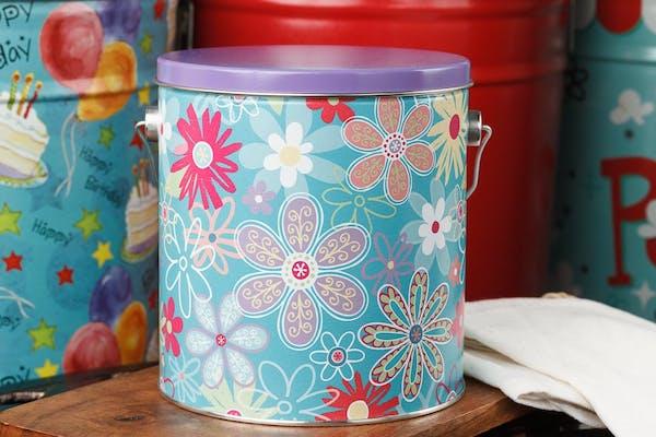 Flower Blossom Popcorn Tin
