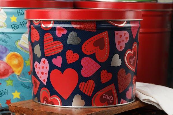 Happy Hearts Popcorn Tin