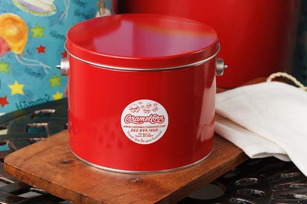 (½) Gallon Red Popcorn Tin