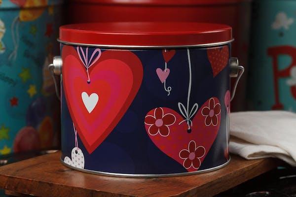 (½) Gallon Heartstrings Popcorn Tin