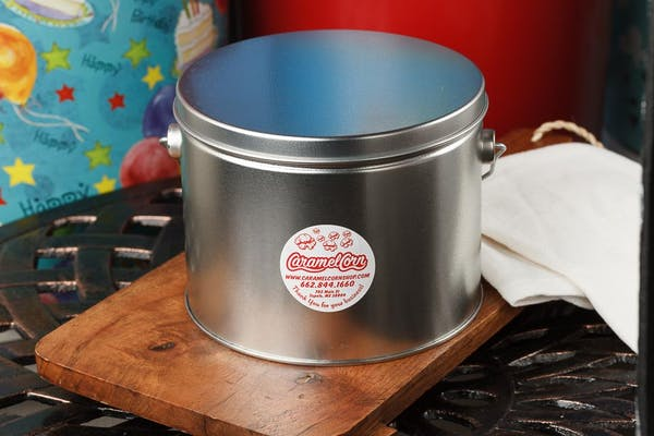 (½) Gallon Platinum Popcorn Tin