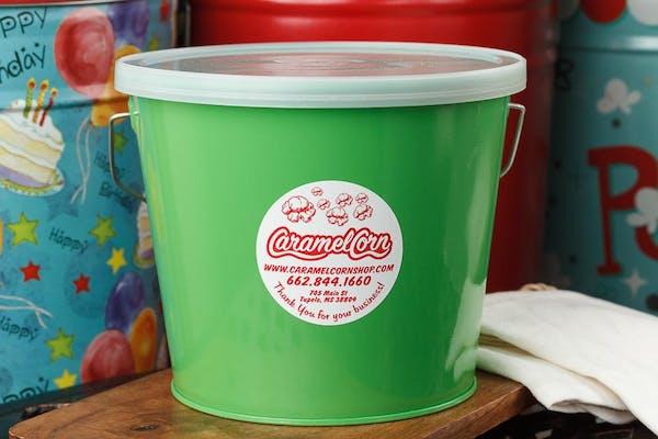 (5 qt.) Electric Green Popcorn Tin