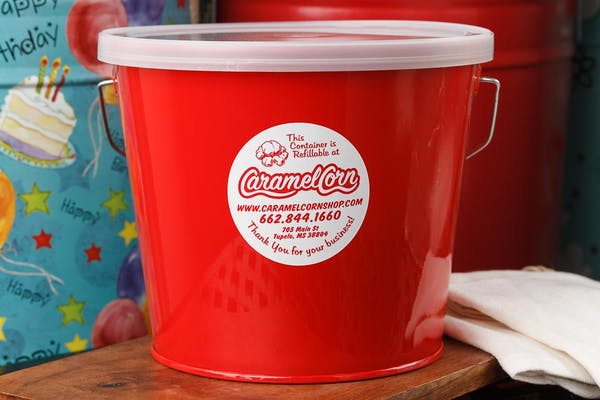 (5 qt.) Candy Apple Red Popcorn Tin