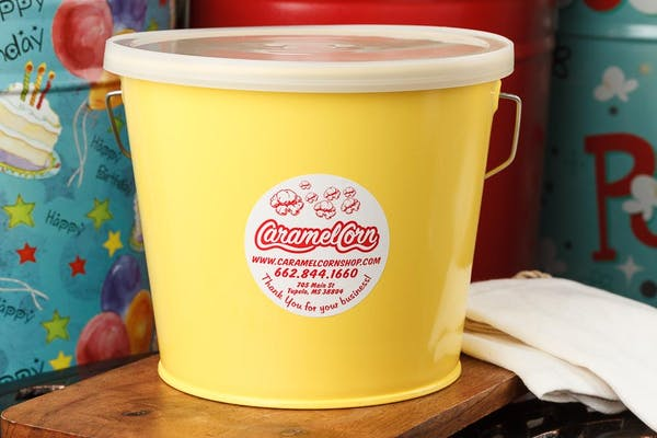 (5 qt.) Sunshine Yellow Popcorn Tin