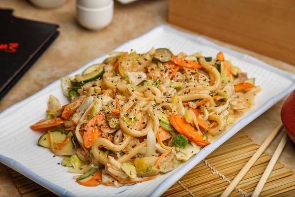 Creamy Pesto Yakiudon & Udon Noodles