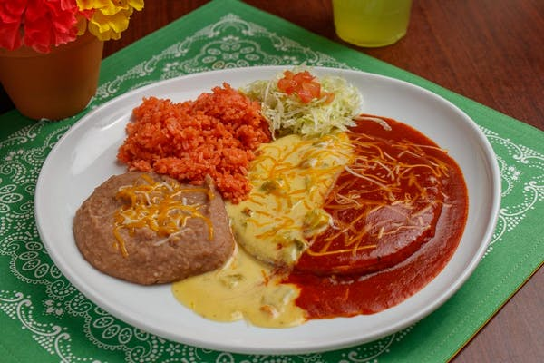 Red or Green Enchiladas
