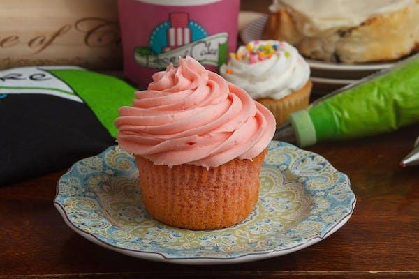 Jumbo Strawberry Cupcake