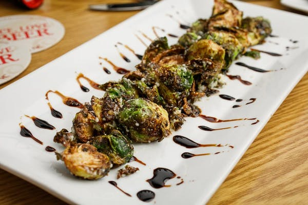 Fried Kung Pao Brussel Sprouts