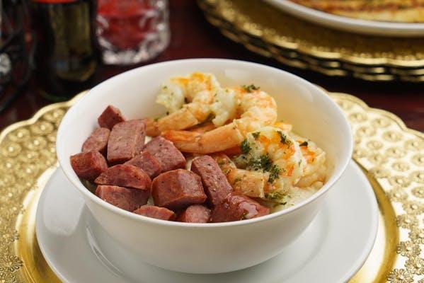 Shrimp, Sausage, & Grits