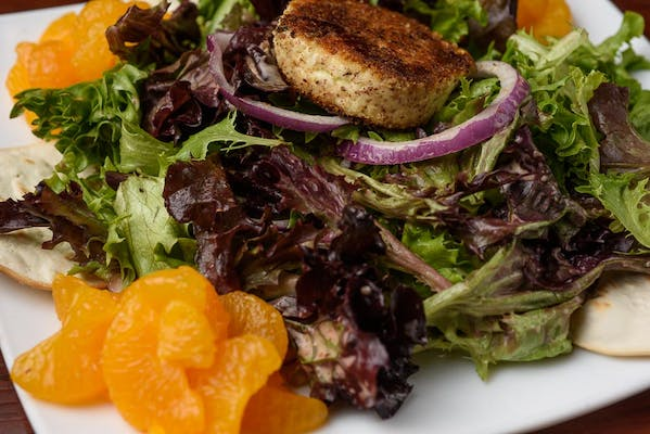 Hazelnut-Encrusted Goat Cheese Salad