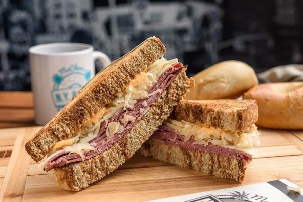 Reuben on Rye Sandwich