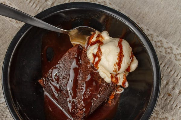 Triple Chocolate Brownie with Ice Cream