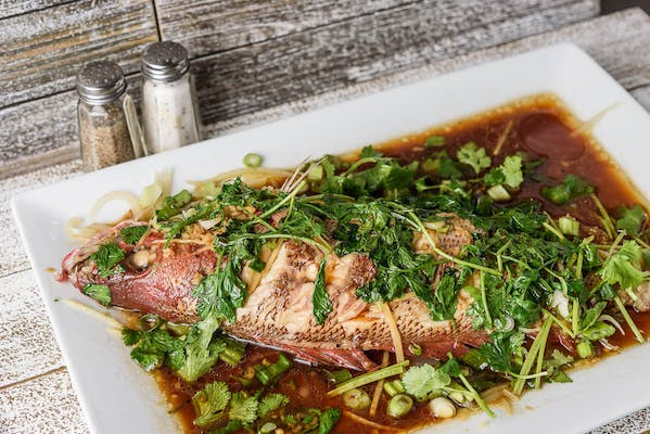 SF22. Steamed Whole Fish in Hot Oil