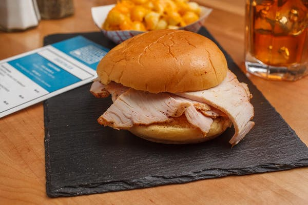 Pit-Smoked Turkey Sandwich