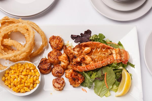 Grilled Lobster & Scallops