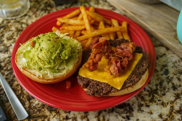 Guacamole Burger & Fries