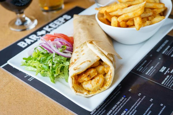 Naan Wrap & Fries