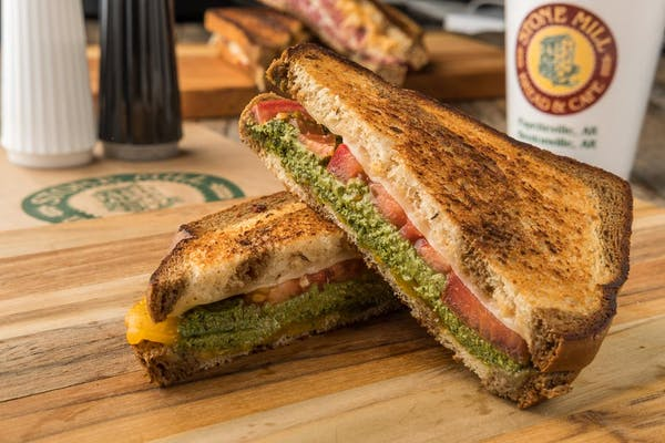 Spinach & Basil Pesto Sandwich