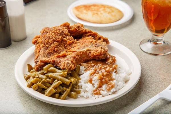 Fried Pork Chops Plate