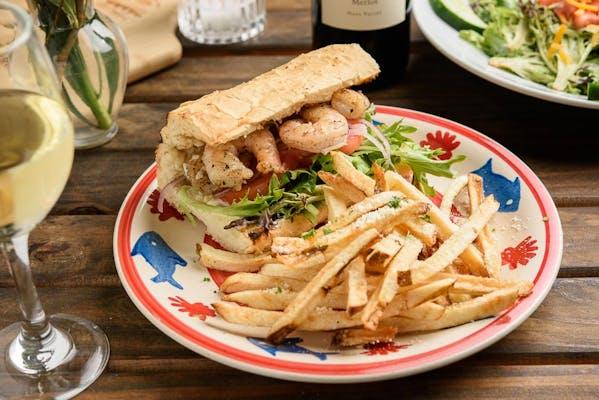 Grilled Mediterranean Shrimp Sandwich