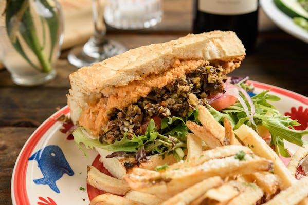 Grilled Mediterranean Veggie Sandwich