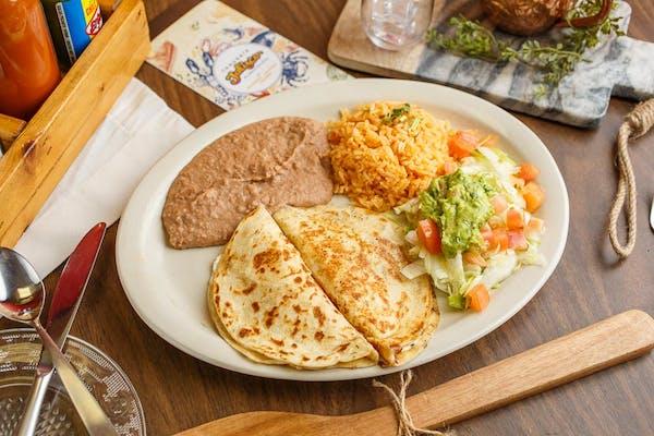 Fajita Quesadilla Plate