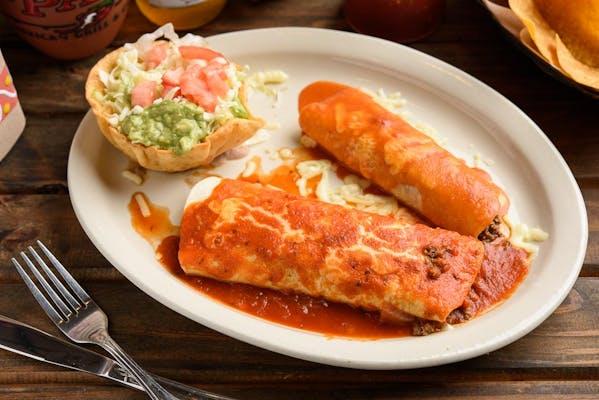 J. Burrito, Chalupa, Enchilada & Beef Taco Combo