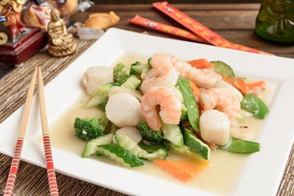 Stir-Fried Shrimp & Scallops