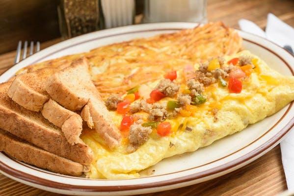 Sausage Supreme Omelet
