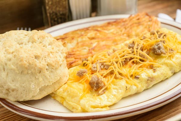 Sausage & Cheese Omelet