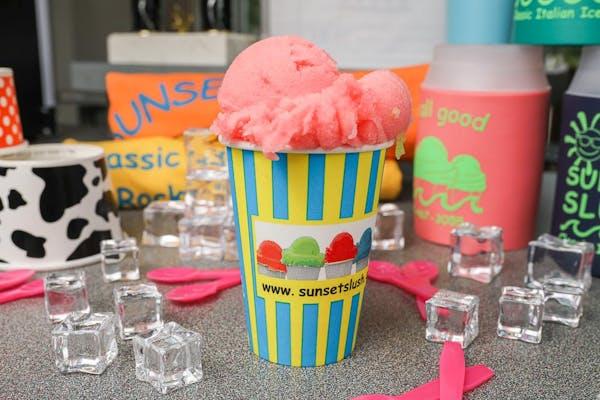 Bubble Gum Italian Ice