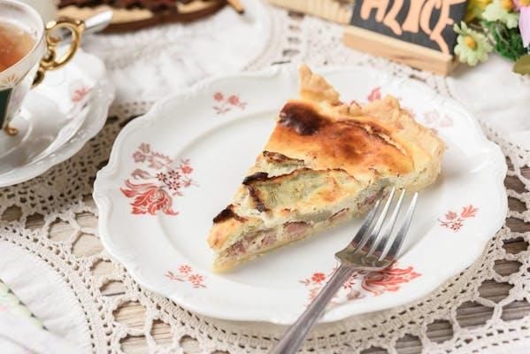 Black Forest Ham, Mushroom & Ricotta Cheese Quiche
