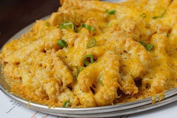 Cheesy Crinkle Fries