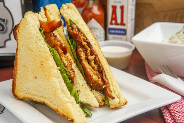 Fried Green BLT Sandwich
