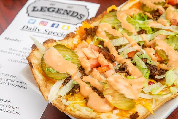 Legends Cheeseburger Flatbread