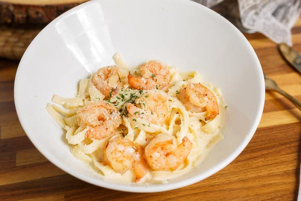 Shrimp Alfredo Plate