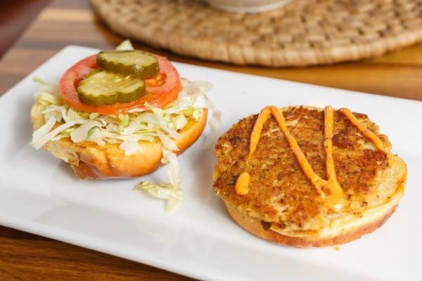 Crab Burger Plate