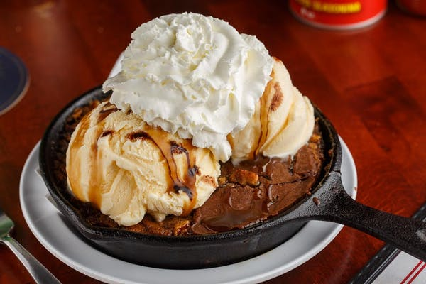 Pecan Pie Skillet Brownie