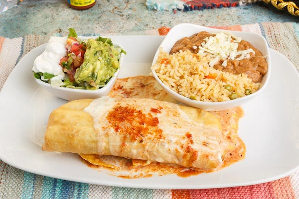 Shredded Chicken Chimichanga