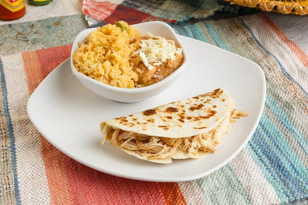 N. Chicken Quesadilla, Rice & Beans